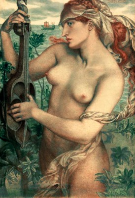 The Siren Ligeia - Dante Gabriel Rossetti