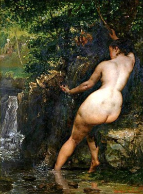 The source, or bather at The source - Gustave Courbet