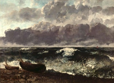The Stormy Sea - Gustave Courbet