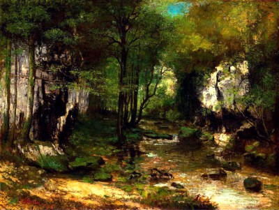The Stream - Gustave Courbet
