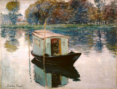 The Studio Boat - Claude Monet