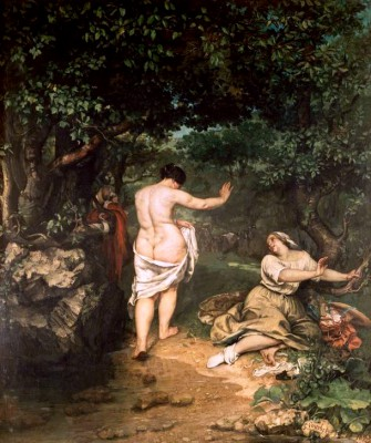 The Swimmers - Gustave Courbet
