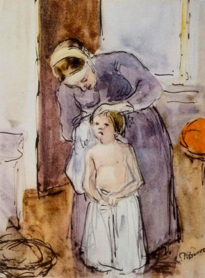The Toilette - Camille Pissarro