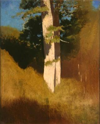 The tree with blue sky - Odilon Redon
