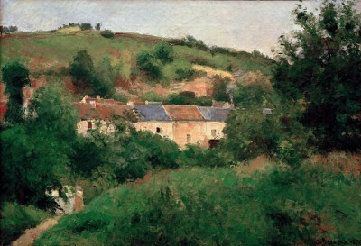 The village street - Camille Pissarro