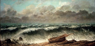 The Waves - Gustave Courbet