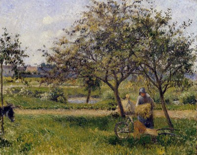 The Wheelbarrow - Camille Pissarro