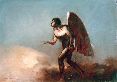 The Winged Man or The Fallen Angel - Odilon Redon
