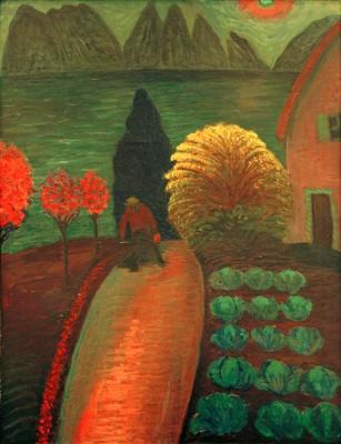 The yellow bush - Marianne von Werefkin