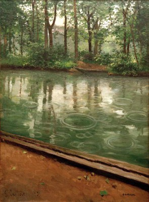The Yerres River in the rain - Gustave Caillebotte
