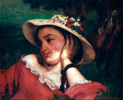 The young girl - Gustave Courbet
