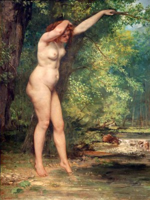 The young woman bathing - Gustave Courbet