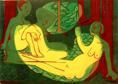Three acts in the woods - Ernst Ludwig Kirchner