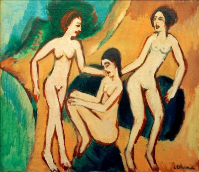 Three bather on the beach - Ernst Ludwig Kirchner