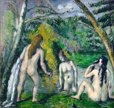 Three bathers - Paul Cézanne