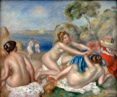 Three female bathers with a crab - Pierre Renoir