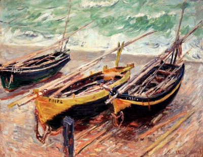 Three fishing boats - Claude Monet