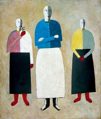 Three girls - Kazimierz Malewicz
