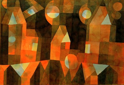 Three Houses by the Bridge - Paul Klee