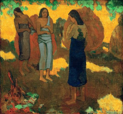 Three Tahiti Women on Yellow Ground - Paul Gauguin