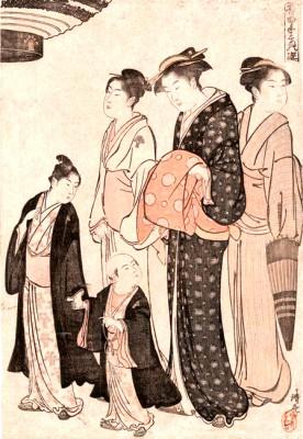 Tomimoto School of Joruri - Torii Kiyonaga