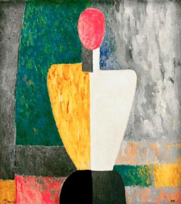 Torso (Figure with pink face) - Kazimierz Malewicz