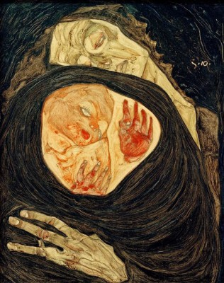Tote Mutter (I) - Egon Schiele