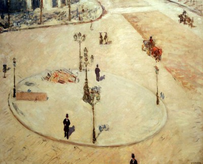 Traffic Refuge on Boulevard Haussmann - Gustave Caillebotte