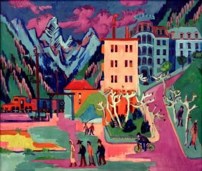 Train station Davos - Ernst Ludwig Kirchner