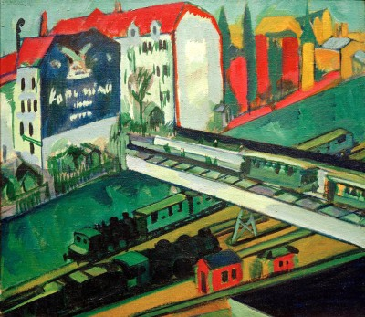 Tram and railway - Ernst Ludwig Kirchner