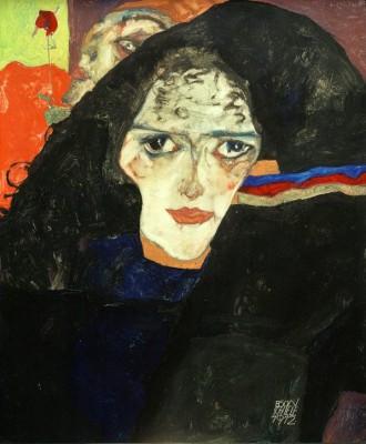 Trauernde Frau - Egon Schiele