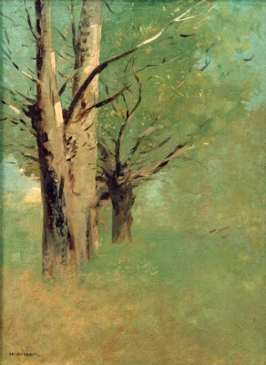Trees in the countryside of Peyrelebade - Odilon Redon