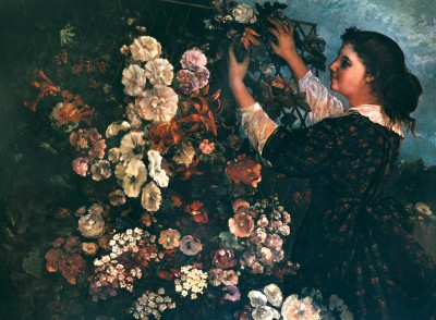 Trellis flowers - Gustave Courbet