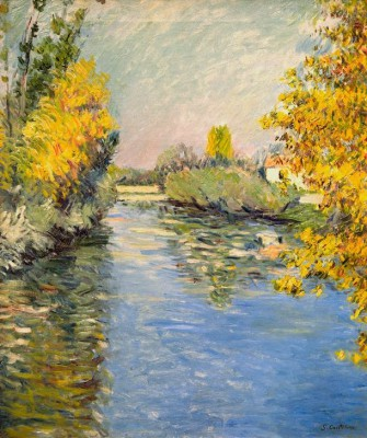 Tributary of the Seine, Autumn atmosphere - Gustave Caillebotte