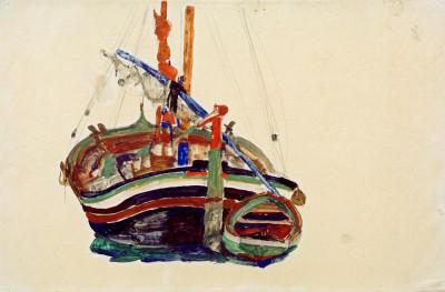 Triestiner Fischerboot - Egon Schiele