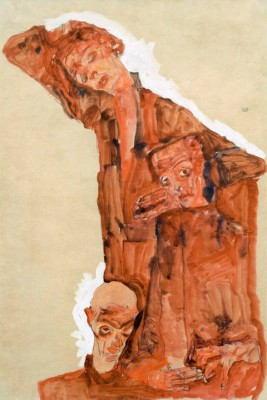 Triple self portrait - Egon Schiele