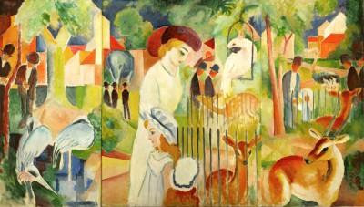 Triptychon Großer Zoologischer Garten - August Macke