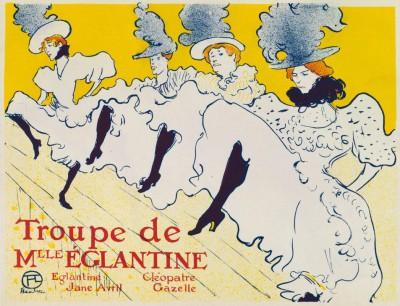 Troupe de Mlle. Eglantine - Henri de Toulouse-Lautrec
