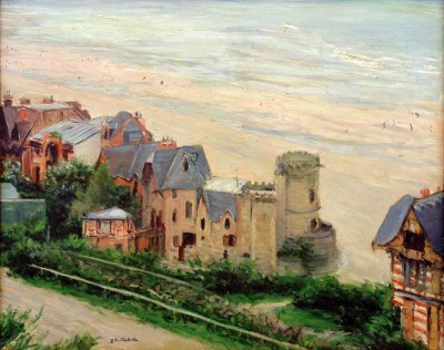 Trouville, the Beach and Villas - Gustave Caillebotte