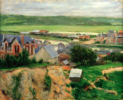 Trouville, Valley of the Touques - Gustave Caillebotte