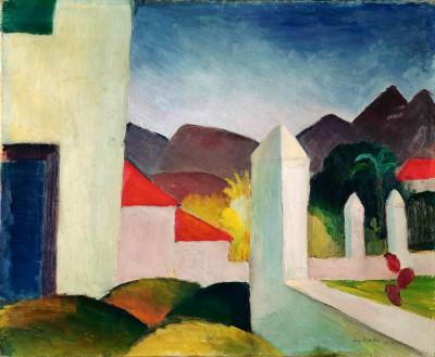 Tunesische Landschaft - August Macke