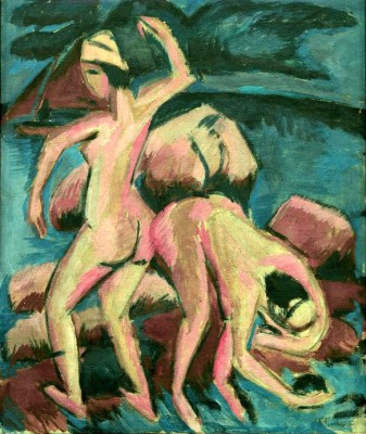 Two bathers - Ernst Ludwig Kirchner