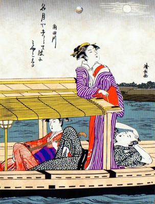 Two courtesans - Torii Kiyonaga