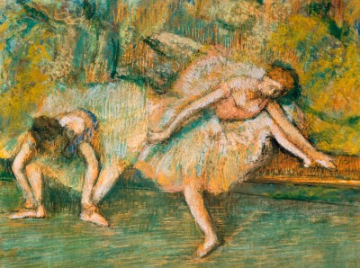 Two dancers on a bench - Edgar Degas