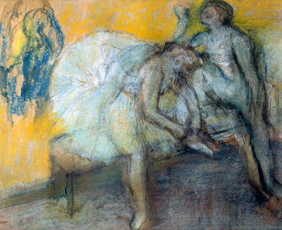 Two Dancers Relaxing - Edgar Degas