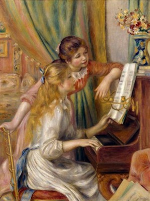Two girls at the piano - Pierre Renoir