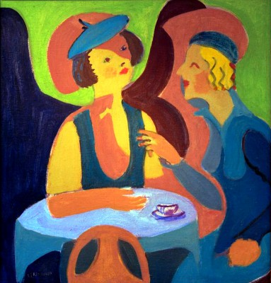 Two ladies in the cafe - Ernst Ludwig Kirchner