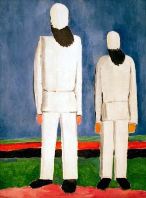 Two Male Figures - Kazimierz Malewicz