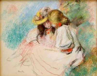 Two reading girls - Pierre Renoir