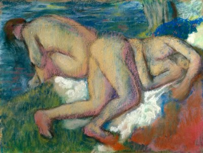 Two Women Bathing - Edgar Degas